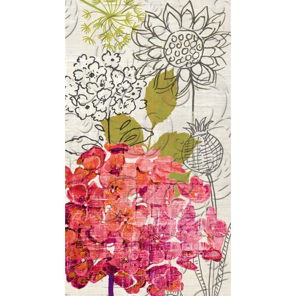 Sketch Floral Embossed Hand Towel (Set of 15) by Winston Porter
