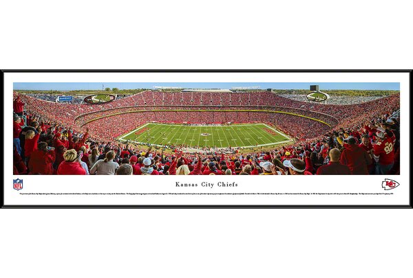 NFL Kansas City Chiefs - 50 Yard Line Day by James Blakeway Framed Photographic Print by Blakeway Worldwide Panoramas, Inc