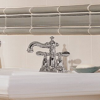 Victorian Centerset Bathroom Faucet with Drain Assembly and Diamond Seal Technology by Delta