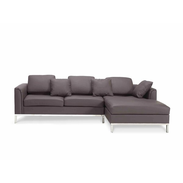 Blane Genuine Leather Modular Sectional by Wrought Studio