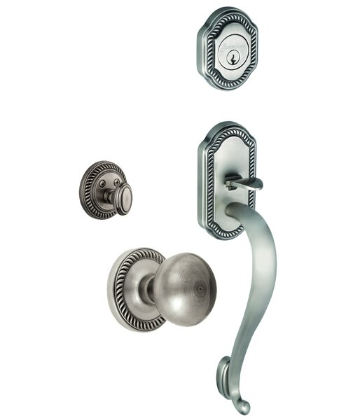 Newport Keyed Door Knob by Grandeur