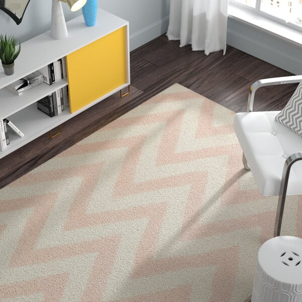 Charlenne Hand-Tufted Light Pink/Ivory Area Rug by Zipcode Design