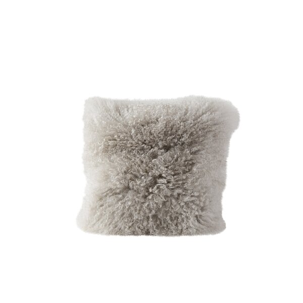 Back East Fur Throw Pillow by Bungalow Rose