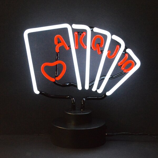 Bar & Game Room Royal Flush Poker Neon Sign by Neonetics