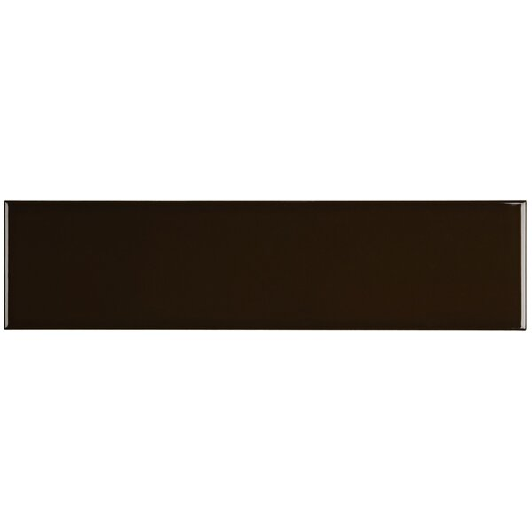 Ponderosa 4 x 16 Ceramic Subway Tile in Cacao by Itona Tile