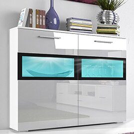 Sarah LED 2 Drawer Side Accent Cabinet by Helvetia