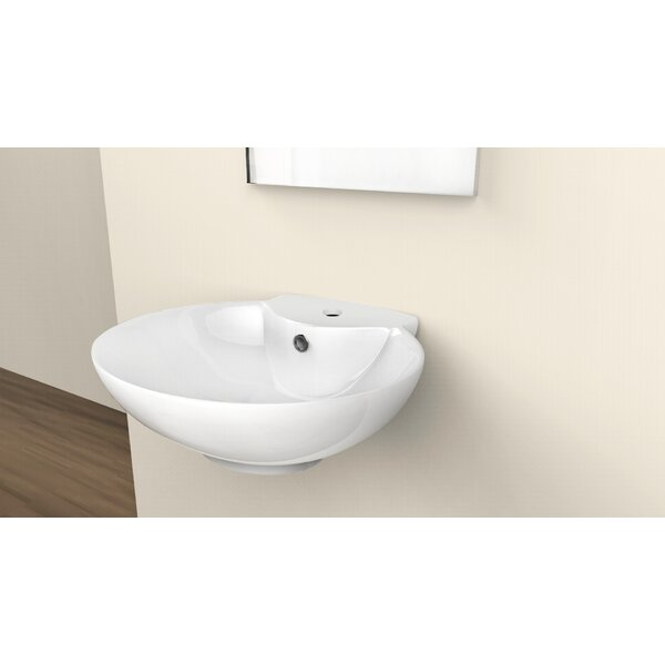 Ceramic 23 Wall Mount Bathroom Sink with Overflow by Royal Purple Bath Kitchen