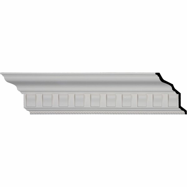 Nouveau with Bead 7 1/4H x 95 7/8W x 5D Crown Moulding by Ekena Millwork