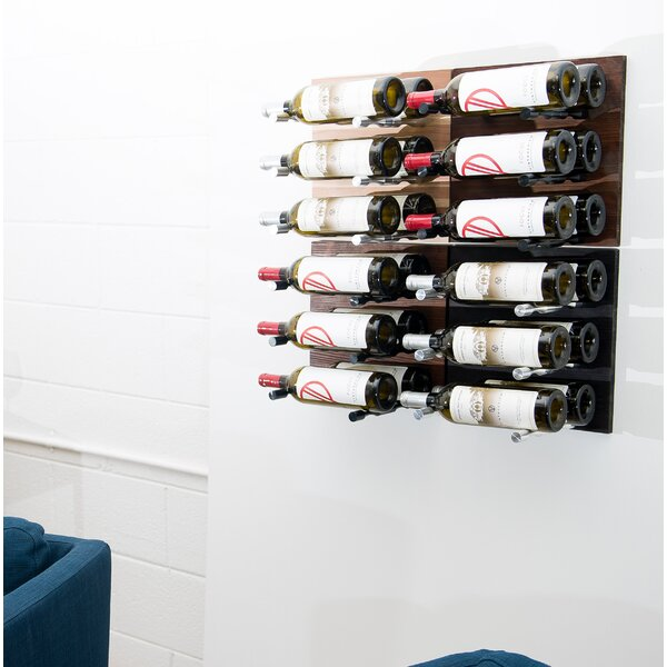 24 Bottle Wall Mounted Wine Bottle Rack by VintageView VintageView