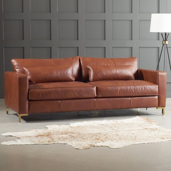 Maxine Leather Sofa by DwellStudio