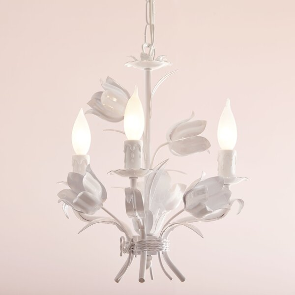 Blooming Bouquet 3-Light Candle Style Chandelier b