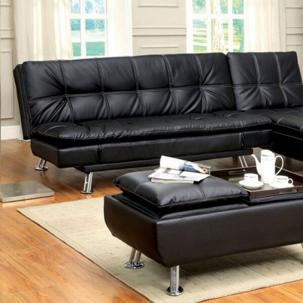 Palisades Full Tufted Back Convertible Sofa by Orren Ellis Orren Ellis