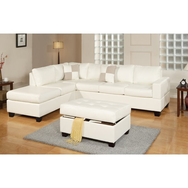 Lyke 3 Piece Sectional Set with Ottoman by Latitude Run