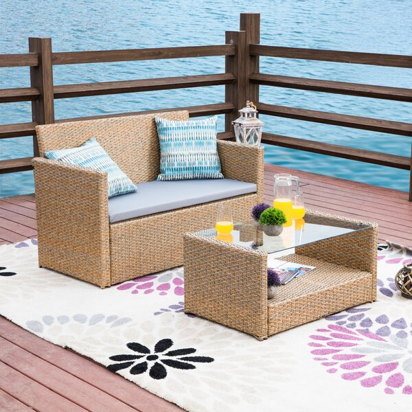 Hobdy 2 Piece Sofa Seating Group with Cushions by Highland Dunes