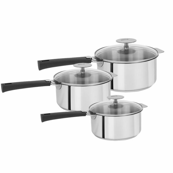 Mutine Stainless Steel Saucepan Set by Cristel