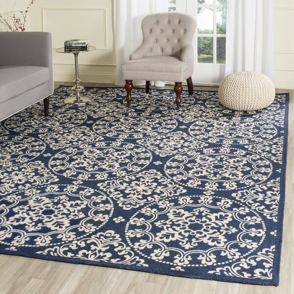 Charing Cross Hand-Loomed Navy / Natural Area Rug by Charlton Home