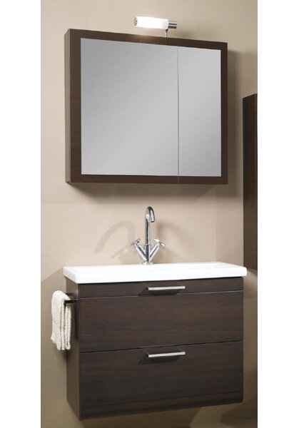 Luna 30 Single Bathroom Vanity Set with Mirror by Iotti by Nameeks