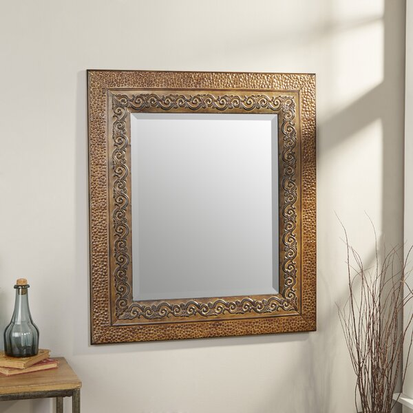 Asrani Rustic Metal Framed Mirror by World Menagerie
