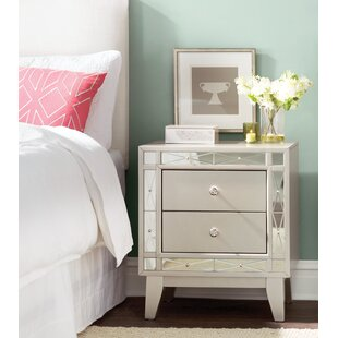Alessia 2 Drawer Nightstand ByWilla Arlo Interiors
