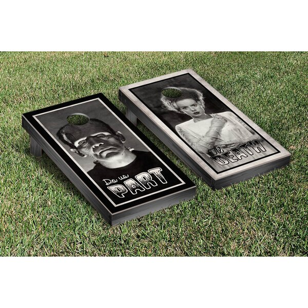 NCAA Til Death Do Us Part Photo Cornhole Game Set by Victory Tailgate