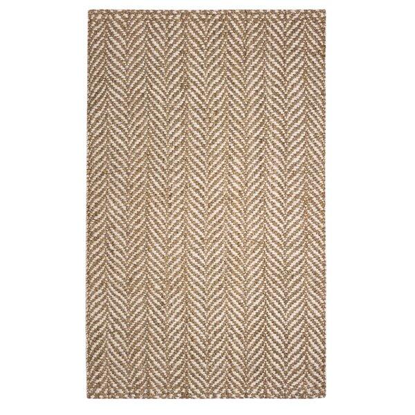 Garrett Hand-Woven Natural/cream Area Rug by Birch Lane™