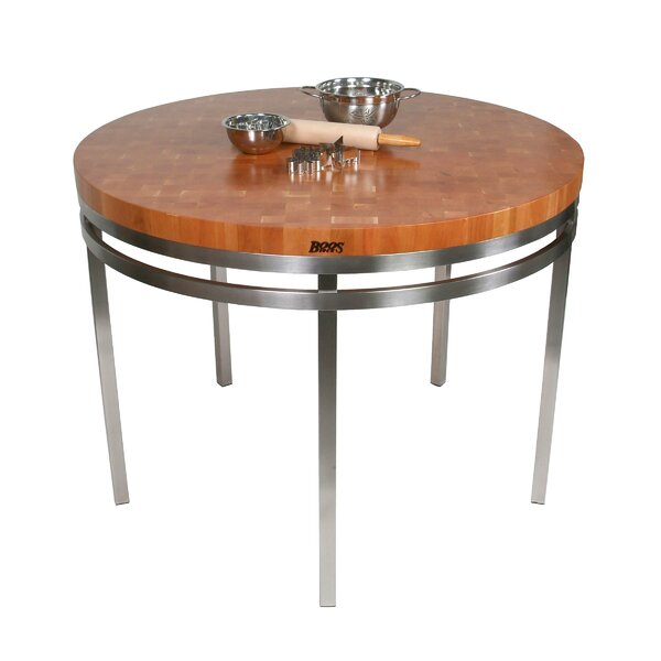Metropolitan Designer Prep Table with Wood Top by John Boos