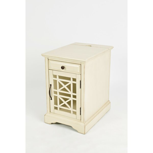 Floyd Wooden End Table with Storage by Rosecliff Heights