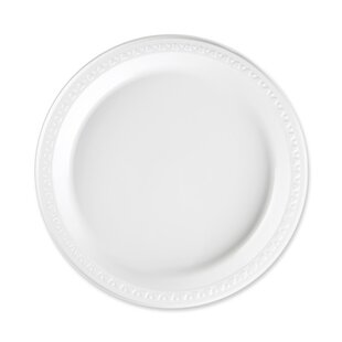 Compare & Buy Reusable/Disposable Plastic Plates, White ByGenuine Joe