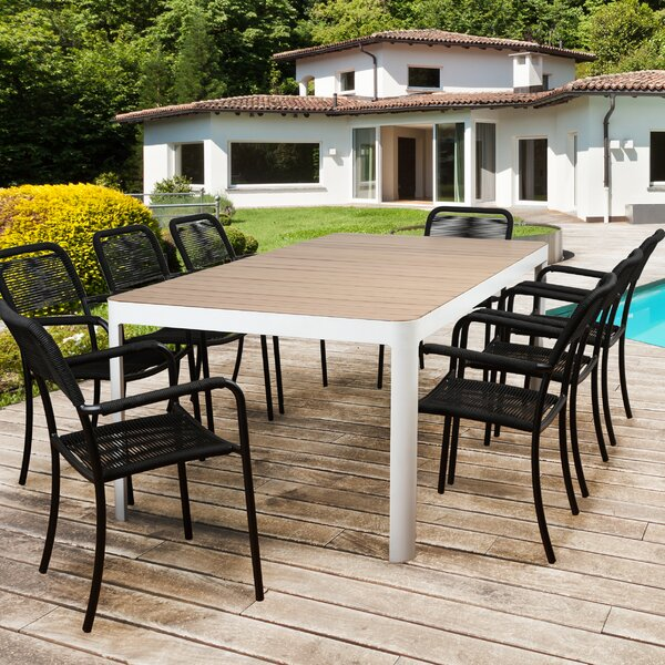 Hillsdale 9 Piece Teak Dining Set by Rosecliff Heights