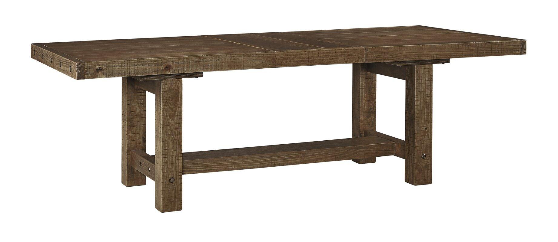 loon peak etolin extendable dining table  reviews  wayfair -