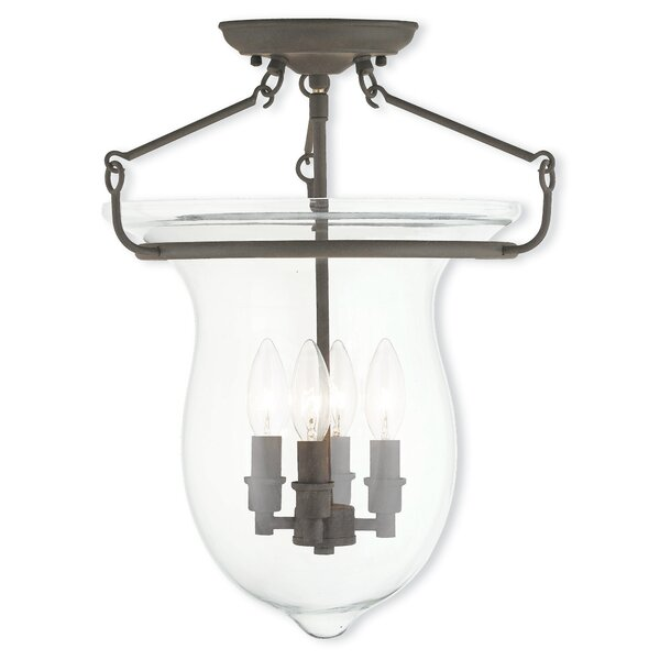 Brentwood 4-Light Semi-Flush Mount by Bay Isle Home
