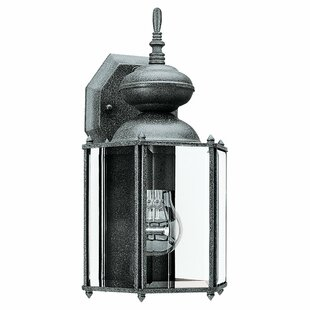 Read Reviews Redfern 1-Light Outdoor Wall Lantern with Clear Beveled Glass By Alcott Hill