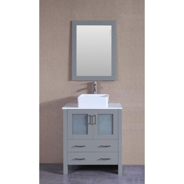 30 Single Bathroom Vanity Set with Mirror by Bosconi