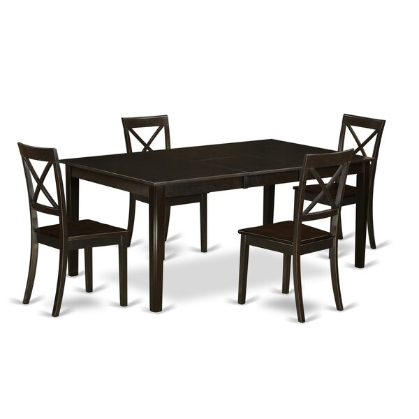 Forada 5 Piece Extendable Solid Wood Dining Set by Red Barrel Studio