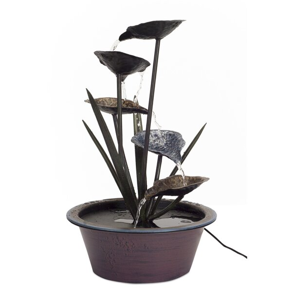 Metal Lotus Leaf Fountain by Melrose International