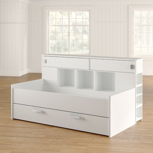 Funktionsbett Mullaney mit Stauraum Brayden Studio Farbe: Perlweiß | Schlafzimmer | Brayden Studio