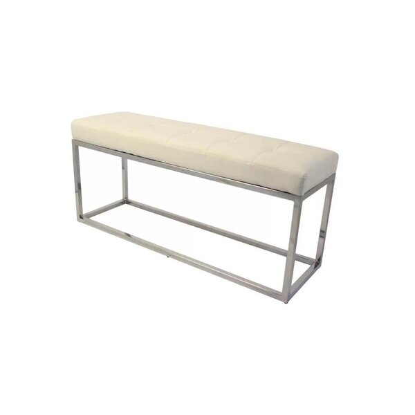 Harlingen Faux Leather Bench by Ivy Bronx