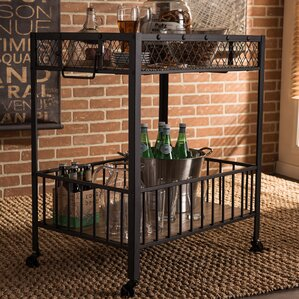 Ahlers Bar Cart by Latitude Run