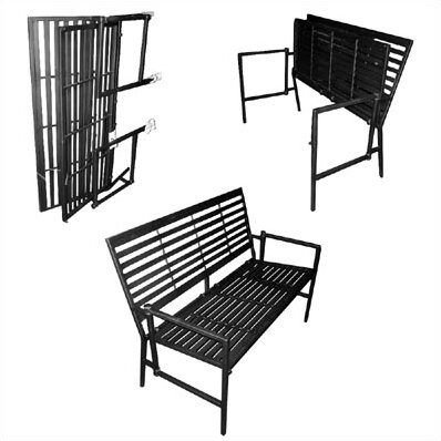 Iron Folding Garden Bench by Pangaea Home and Garden