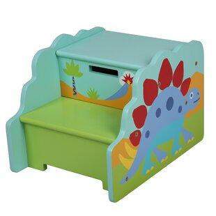 Olive Kids Dinosaur Step U0027n Store Step Stool With Storage