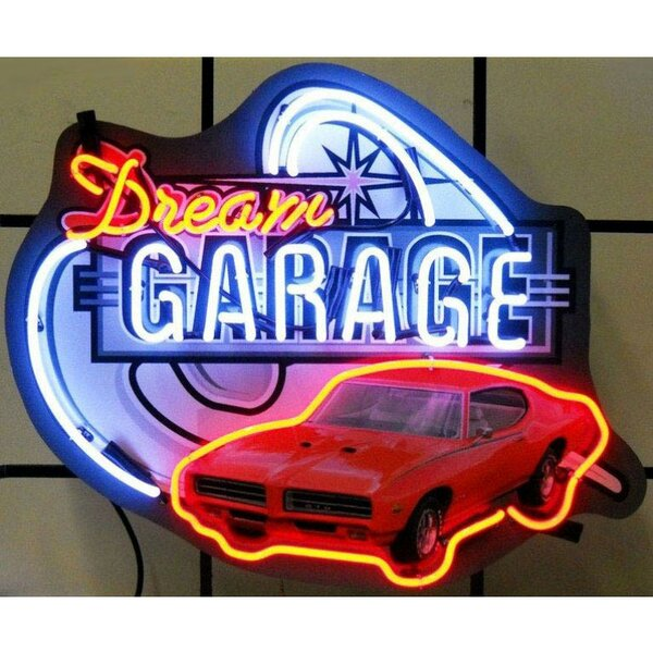 Cars and Motorcycles Dream Garage Gto Neon Sign by Neonetics