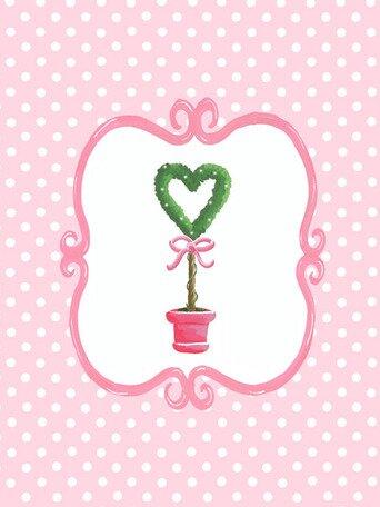 Bella Heart Topiary Canvas Art by Oopsy Daisy