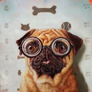 'Canine Eye Exam' Print on Canvas by East Urban Home