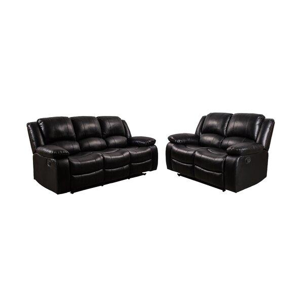 Review Herdon 2 Piece Reclining Living Room Set