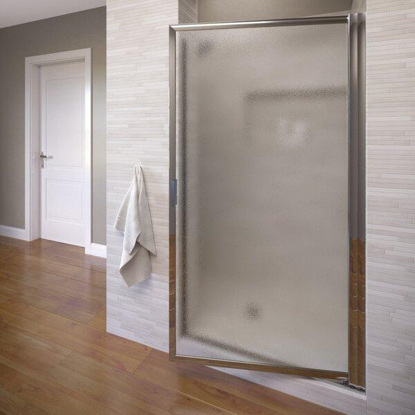 Deluxe 28 x 67 Pivot Framed Single Swing Shower Door by Basco
