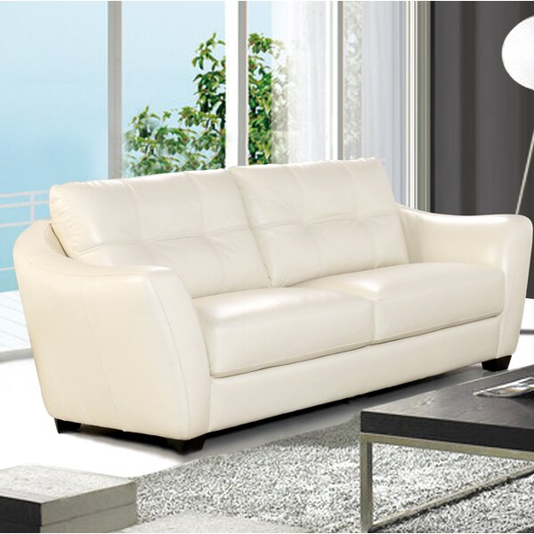 Great Value Swink Leather Sofa by Ebern Designs by Ebern Designs