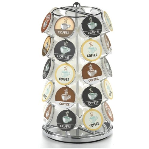 Keurig K-Cup Compatible Chrome Coffee Carousel by Vandue Corporation