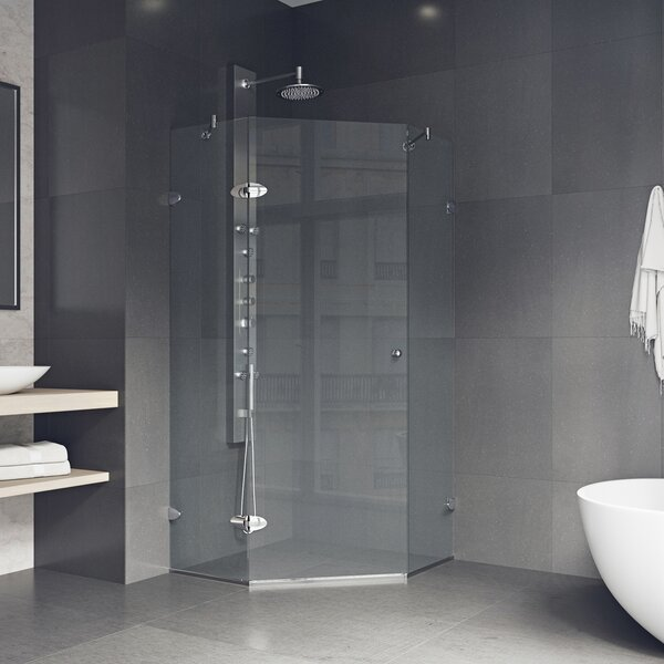 Verona 36.13 x 73.38 Neo-Angle Hinged Shower enclosure by VIGO