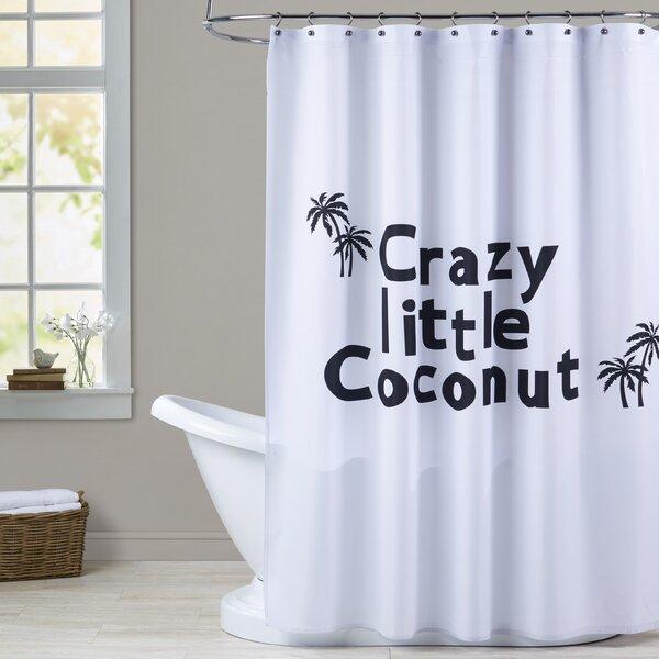 Milo Little Coconut Print Shower Curtain by Zoomie Kids