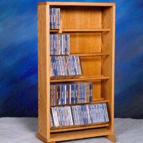 500 Series 210 CD Dowel Multimedia Storage Rack by Wood Shed